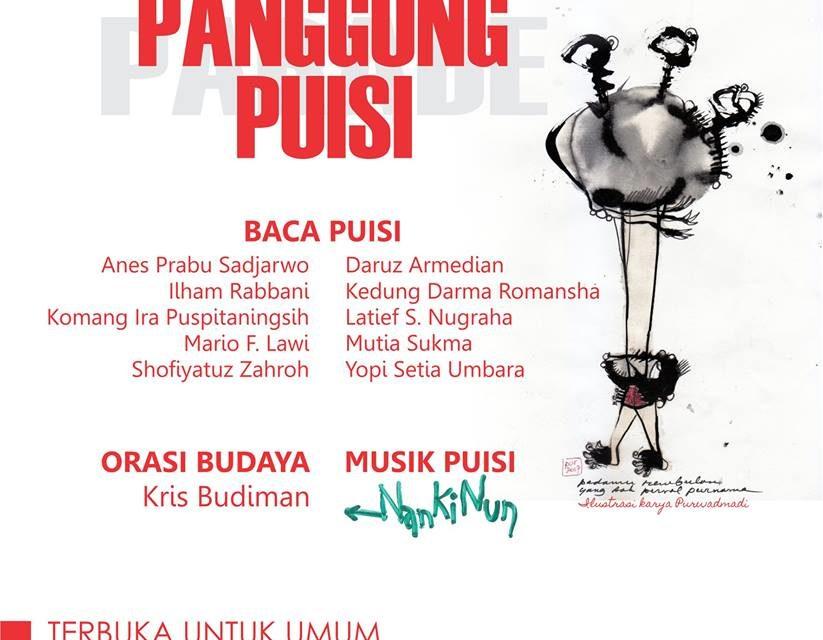 Warga Suku Sastra Baca Puisi di Panggung Puisi Balai Bahasa Yogyakarta