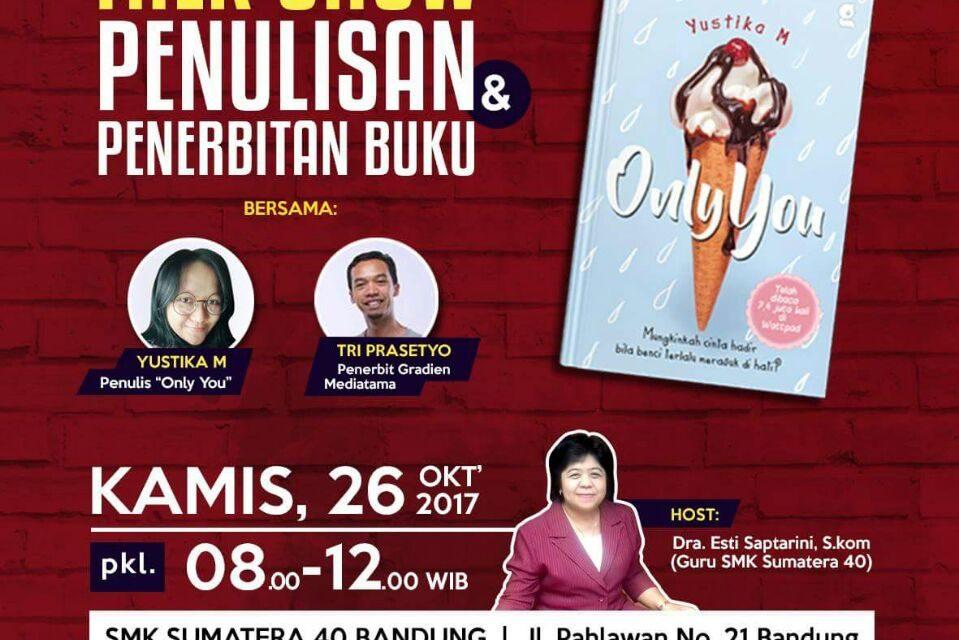Talkshow Penulisan dan Penerbitan Buku   Tri Presetyo