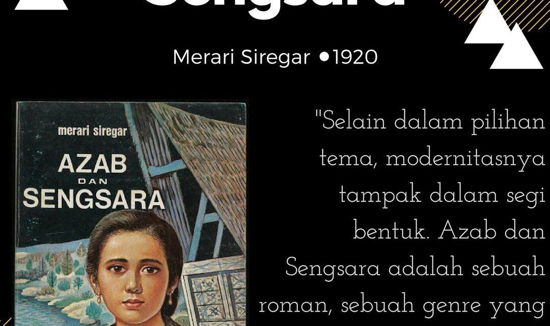 Suku Sastra Membaca Buku Azab dan Sengsara. 1920
