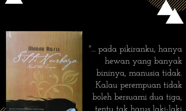 Suku Sastra Mengulas Buku Sitti Nurbaya. 1922