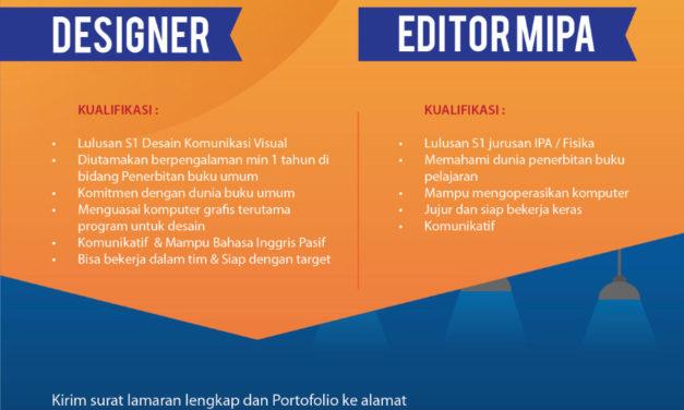 Lowongan Pekerjaan Penerbit Tiga Serangkai