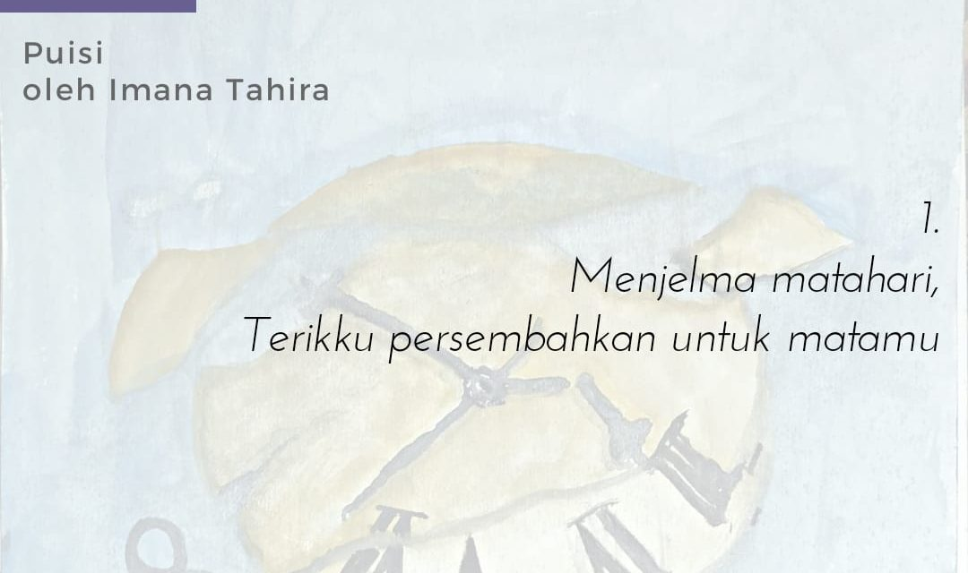 Tiga Doa Satu Malam   Sajak-Sajak Imana Tahira