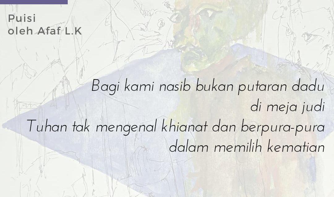 Malam Lindap ke Punggung Lautan | Sajak-sajak Afaf L.K.
