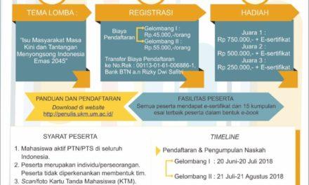 LEN : Lomba Esai Nasional UKMP UM, Kembangkan Kreativitas Mahasiswa Indonesia