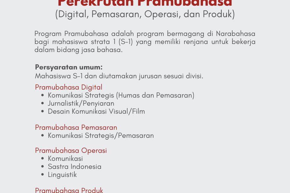 Lowongan untuk Jurusan Sastra Indonesia dan Jurnalistik
